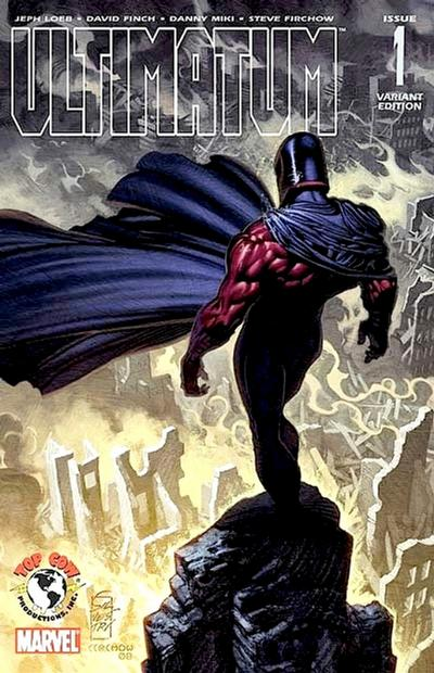 Cover for Ultimatum (Marvel, 2009 series) #1 [Variant Edition - Black and White]