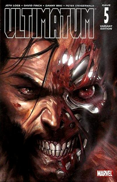 Cover for Ultimatum (Marvel, 2009 series) #5 [Variant Edition - Ed McGuinness]