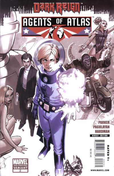 Cover for Agents of Atlas (Marvel, 2009 series) #2