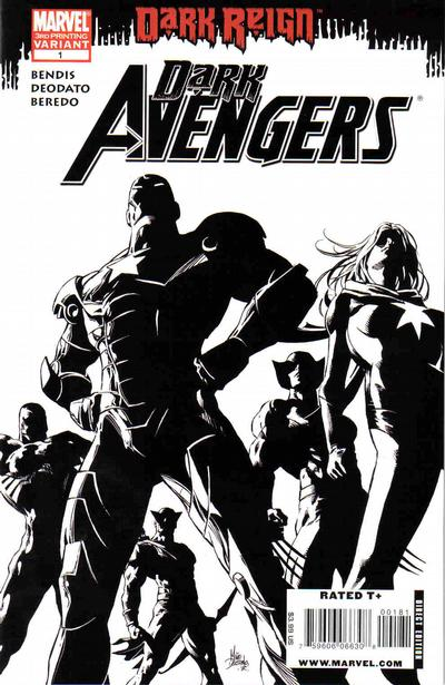 Cover for Dark Avengers (Marvel, 2009 series) #1 [Midtown Comics Cover]