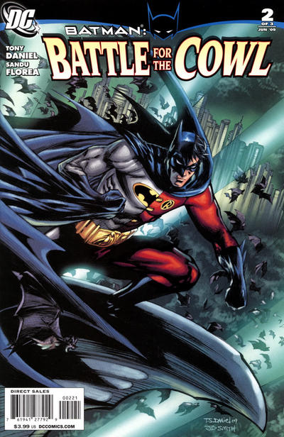 Cover for Batman: Battle for the Cowl (DC, 2009 series) #2 [Cover B - Variant Cover]