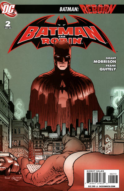 Cover for Batman and Robin (DC, 2009 series) #2 [3rd Printing - Grey Background]
