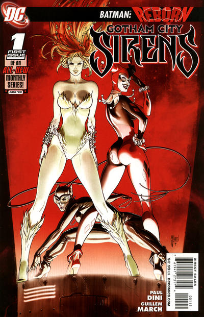 Cover for Gotham City Sirens (DC, 2009 series) #1 [J.G. Jones Incentive Cover (1 in 25)]
