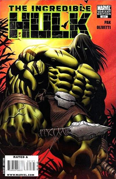 Cover for Incredible Hulk (Marvel, 2009 series) #601
