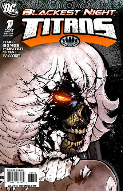 Cover for Blackest Night: Titans (DC, 2009 series) #1 [Ed Benes / Rob Hunter Cover]