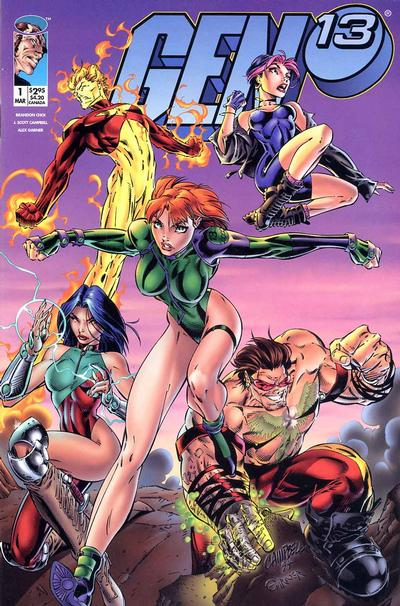 Cover for Gen 13 (Image, 1995 series) #1 [Thumbs Up Cover 1-B]