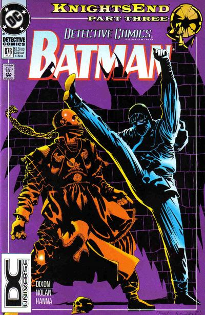 Cover for Detective Comics (DC, 1937 series) #676 [Knightsend Part One Boxed Set]