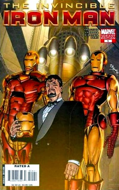 Cover for Invincible Iron Man (Marvel, 2008 series) #1 [2nd Printing Rick Meinerding Cover]