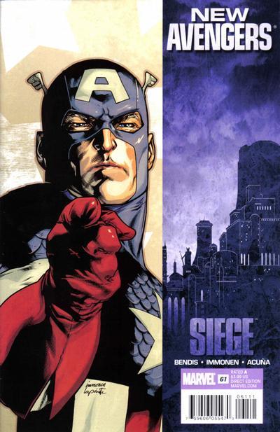 Cover for New Avengers (Marvel, 2005 series) #61