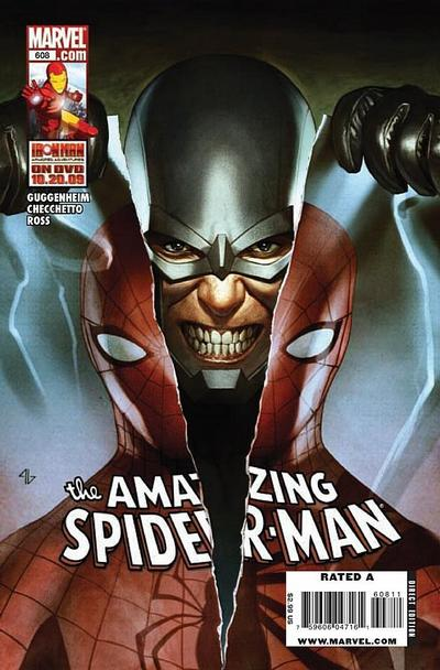 Cover for The Amazing Spider-Man (Marvel, 1999 series) #608 [70 Years of Marvel]
