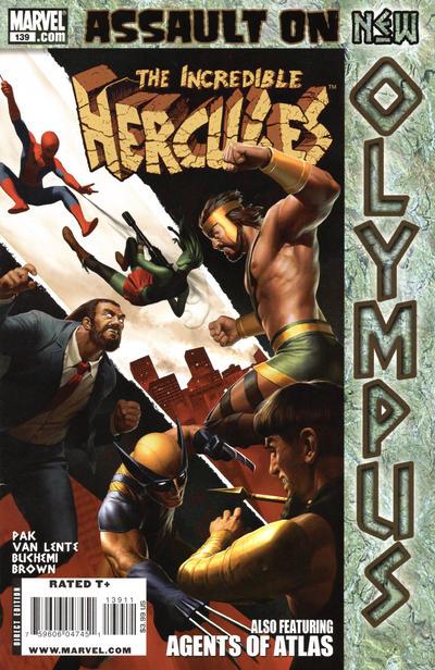 Cover for Incredible Hercules (Marvel, 2008 series) #139