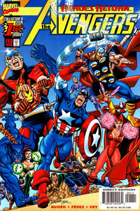 Cover Thumbnail for Avengers (Marvel, 1998 series) #1 [Yellow Logo Direct Edition]