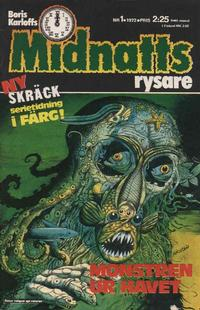 Cover Thumbnail for Boris Karloffs midnattsrysare (Semic, 1972 series) #1/1972