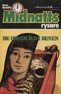 Cover Thumbnail for Boris Karloffs midnattsrysare (Semic, 1972 series) #3/1972
