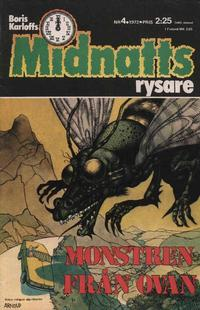 Cover Thumbnail for Boris Karloffs midnattsrysare (Semic, 1972 series) #4/1972