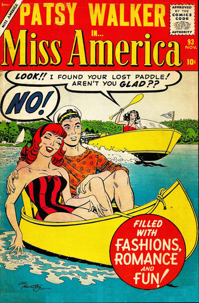 Cover for Miss America (Marvel, 1953 series) #93