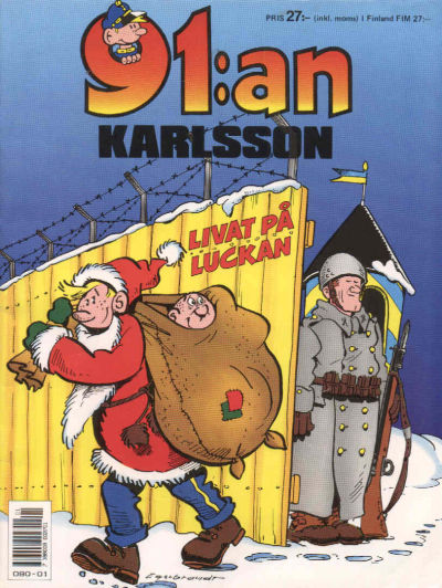 Cover for 91:an Karlsson [julalbum] (Semic, 1981 series) #[1989]