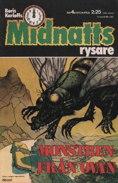 Cover for Boris Karloffs midnattsrysare (Semic, 1972 series) #4/1972
