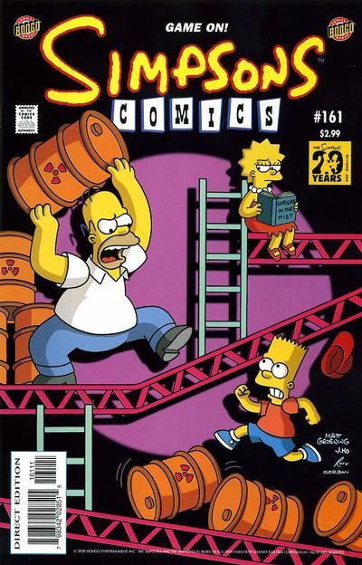 Cover for Simpsons Comics (Bongo, 1993 series) #161