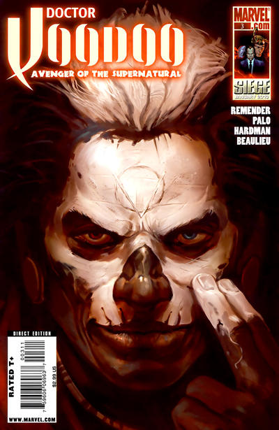 Cover for Doctor Voodoo: Avenger of the Supernatural (Marvel, 2009 series) #3