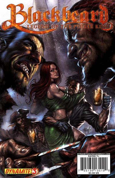 Cover for Blackbeard: Legend of the Pyrate King (Dynamite Entertainment, 2009 series) #3