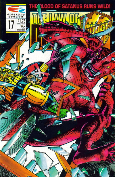 Cover for The Law of Dredd (Fleetway/Quality, 1988 series) #17