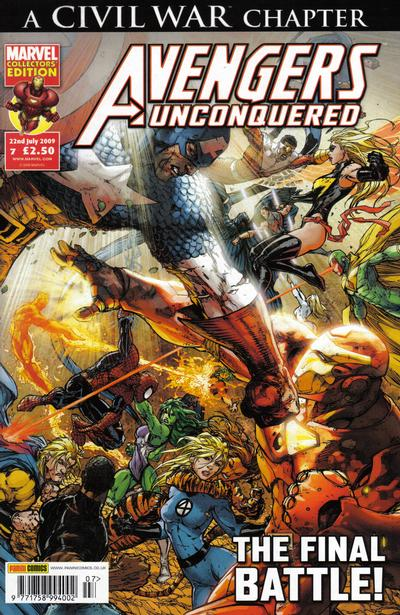 Cover for Avengers Unconquered (Panini UK, 2009 series) #7