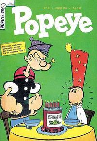 Cover Thumbnail for Popeye (Editora Brasil-América [EBAL], 1953 series) #28