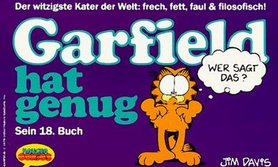 Cover for Garfield (Wolfgang Krüger Verlag, 1984 series) #18