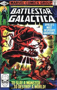 Cover Thumbnail for Battlestar Galactica (Marvel, 1979 series) #21 [Direct Edition]