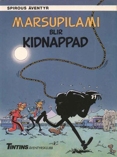 Cover for Spirous äventyr (Nordisk bok, 1984 series) #T-036 [218] - Marsupilami blir kidnappad