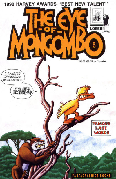 Cover for The Eye of Mongombo (Fantagraphics, 1989 series) #5