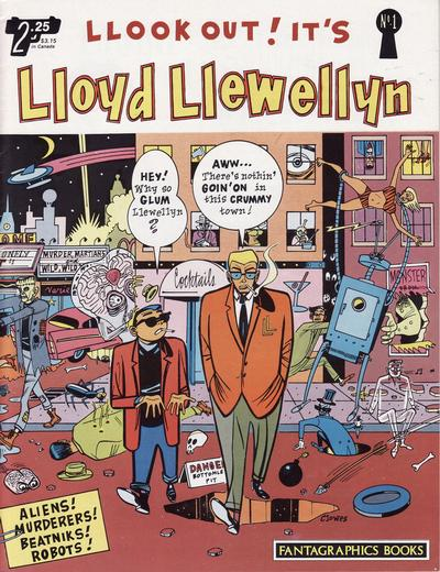 Cover for Lloyd Llewellyn (Fantagraphics, 1986 series) #1
