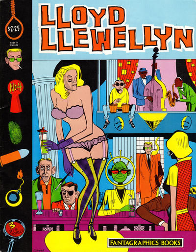 Cover for Lloyd Llewellyn (Fantagraphics, 1986 series) #4