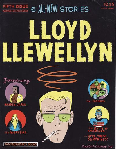 Cover for Lloyd Llewellyn (Fantagraphics, 1986 series) #5