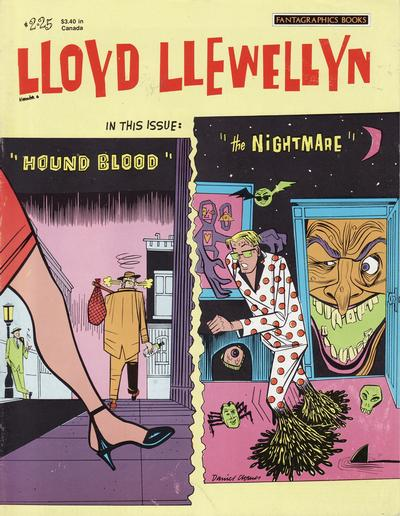 Cover for Lloyd Llewellyn (Fantagraphics, 1986 series) #6