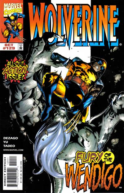 Cover for Wolverine (Marvel, 1988 series) #129 [Direct Edition]