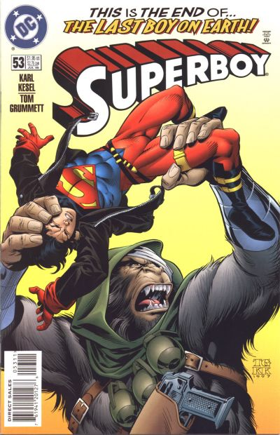 Cover for Superboy (DC, 1994 series) #53 [Direct Sales]