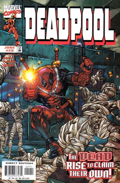Cover for Deadpool (Marvel, 1997 series) #29 [Direct Edition]