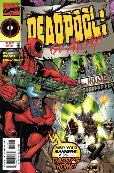Cover for Deadpool (Marvel, 1997 series) #30 [Direct Edition]