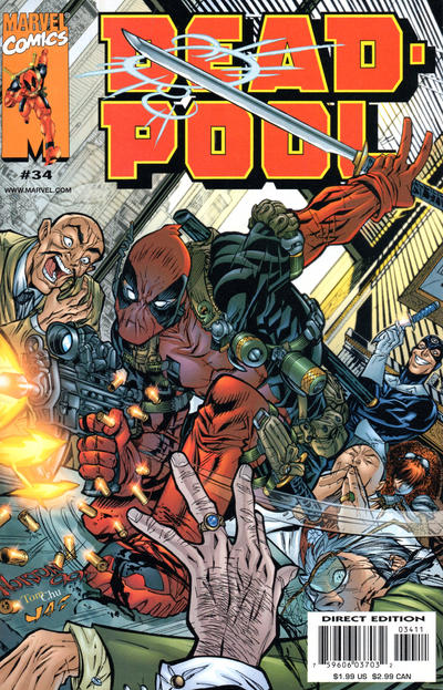 Cover for Deadpool (Marvel, 1997 series) #34 [Direct Edition]