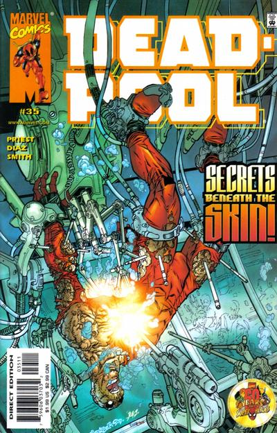 Cover for Deadpool (Marvel, 1997 series) #35 [Direct Edition]
