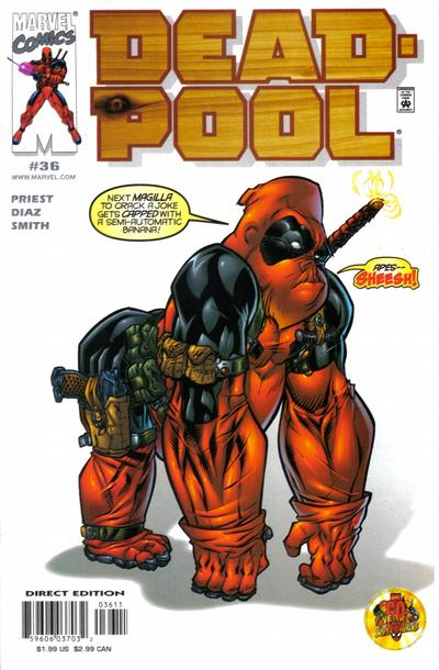 Cover for Deadpool (Marvel, 1997 series) #36 [Direct Edition]