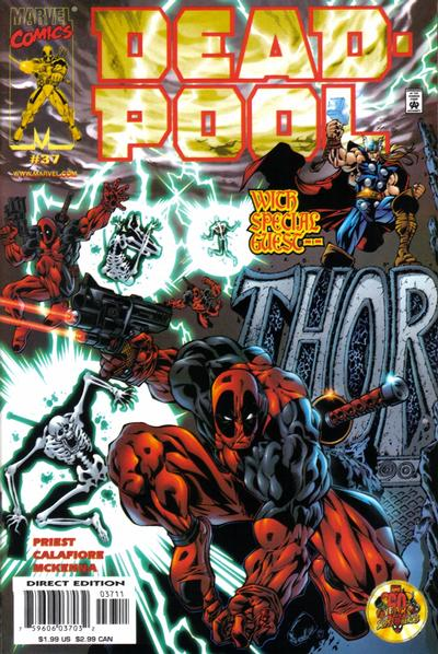 Cover for Deadpool (Marvel, 1997 series) #37 [Direct Edition]