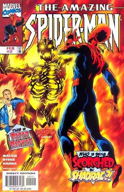 Cover for The Amazing Spider-Man (Marvel, 1999 series) #2 [Direct Edition]