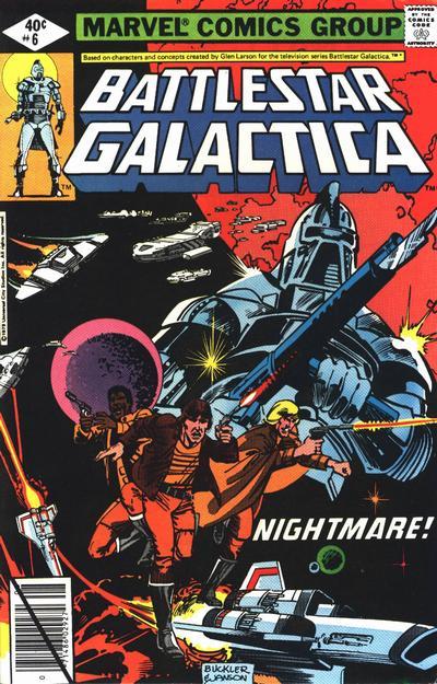 Cover for Battlestar Galactica (Marvel, 1979 series) #6 [Newsstand Edition]