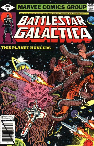 Cover for Battlestar Galactica (Marvel, 1979 series) #10 [Direct Edition]