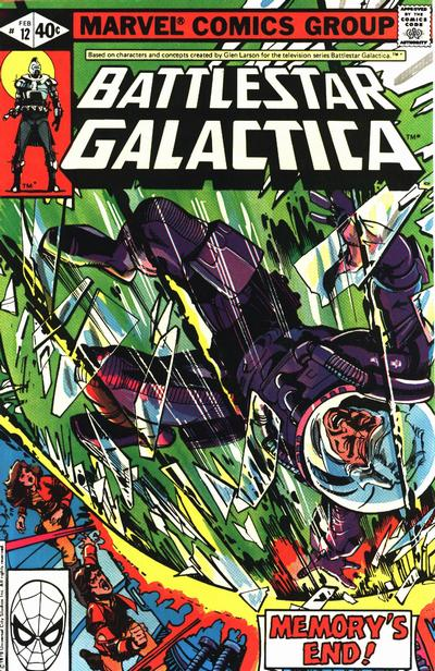 Cover for Battlestar Galactica (Marvel, 1979 series) #12 [Direct Edition]