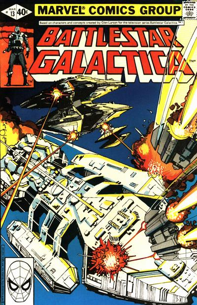 Cover for Battlestar Galactica (Marvel, 1979 series) #13 [Direct Edition]