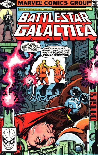 Cover for Battlestar Galactica (Marvel, 1979 series) #14 [Direct Edition]
